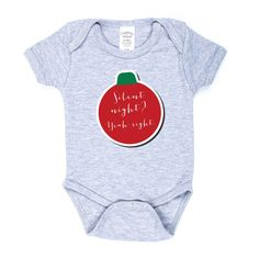 Silent NIght Yeah Right Onesie by sugarandlemon on Etsy https://www.etsy.com/listing/213243171/silent-night-yeah-right-onesie