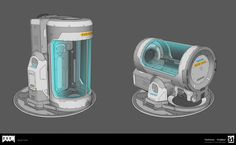 Doom 2016 cryopod by Bryan Flynn on ArtStation. Futuristic Art, Futuristic Technology, Technology Design, Futuristic Architecture, Computer Technology, Cyberpunk, Doom 2016, Gnu Linux, Robot Concept Art