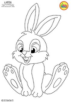 Easter Tracing and Coloring Pages for Kids - Free Preschool Printables and Worksheets, Fine Motor Skills Practice - Easter bunny, eggs, chicks and more on BonTon TV - Coloring books Easter Bunny Colouring, Bunny Coloring Pages, Coloring Pages For Kids, Coloring Books, String Art Templates, String Art Patterns, Push Pin Art, Printable Activities For Kids, Preschool Printables