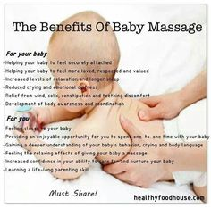 The benefits of baby massage