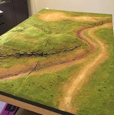 1000 Foot General: Making Terrain Boards Part Grass and Vegetation Warhammer Terrain, 40k Terrain, Game Terrain, Wargaming Terrain, Wargaming Table, Village Miniature, Bolt Action Miniatures, Landscape Model, Model Train Layouts