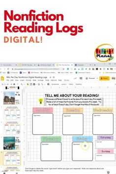Fun, interactive digital nonfiction reading logs!  These fun reading goal trackers will motivate your elementary students to complete their nightly reading to finish the scenes with movable images!  Includes a reading comprehension response for each day of the week. Check them out to learn more!
