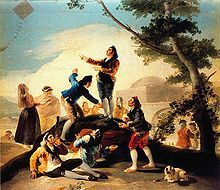 De Goya was known for his cartoon tapestry's. An example of this is his La Cometa, 1777–78
