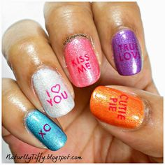 12 best valentine's day candy heart nails images  heart