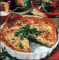 Slaný koláč se sýrem a smetanou Pizza, Quiche, Breakfast, Food, Hoods, Meals, Custard Tart