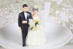 Vintage Wedding Cake Topper / Mid Century / by SouthernGilt, $22.00