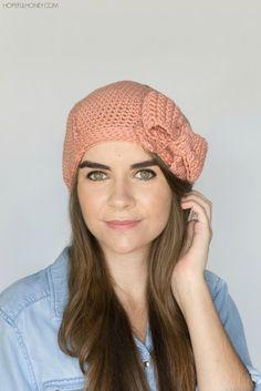 Peaches & Cream Beret - Crochet Pattern + Giveaway