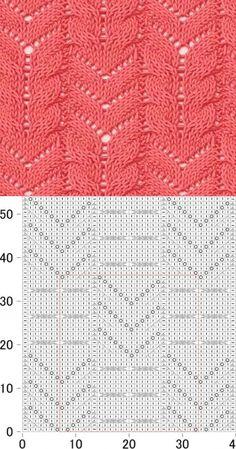 Ажурные косы спицами Схема и описание | Ажурные Узоры