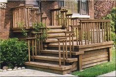 Front Entrance Wooden Steps steep   Porches, Decks, Patios - Delta C. Construction, Inc.