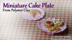 Hi Guys! Here' a tutorial on how to make a cake platter from polymer clay - mine is a 1:12 scale miniature, but you can make it any size you want and use it ...