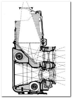 First ever Rolleiflex diagram for how light enters the Camera.