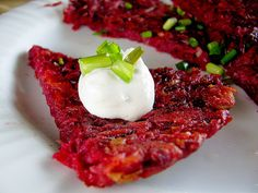 Beet Roesti: A Beet Recipe for Someone Who Hates Beets | Eating richly even when you're broke food recipes, beet recipes, weight loss, beets recipes, butter, bacon, potato pancakes, healthi recip, beet roesti