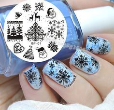 BORN PRETTY Christmas XMAS Theme Nail Art Stamp Template Image Plate 01
