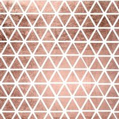 Geometric faux rose gold foil triangles pattern Canvas Print by Girly Trend