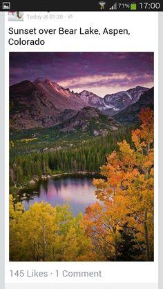 #lake #autumn #trees #mountains #colarado