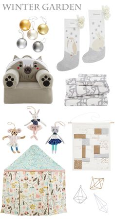 Land of Nod Winter Garden Holiday Collection via Honesttonod.com