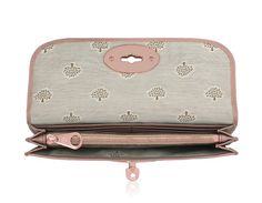 Mulberry - Long Locked Purse in Dark Blush Glossy Goat Leather