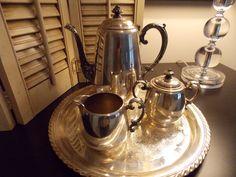 Vintage Wm. Rogers Silver TEA SERVICE Four by VintageCreativeAccen