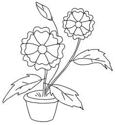 plantillas de flores y mariposas para colorear  DIBUJOS PARA