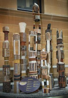 Pukumani Poles from the Tiwi Islands ~ Spirituality for Indigenous Australians takes many forms. Its forms and practices have been profoundly influenced by the impact of colonialism, both past and present