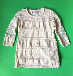 62416f4fb81e0 Zara Girls Casual Collection Ivory Lace Dress Size 3/4 Years 104 Cm #fashion