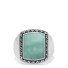 Effy Men's Sterling Silver Turquoise Signet Ring, 3.90 TCW Cyber Week Deals, Effy Jewelry, Black Friday Deals, Signet Ring, Holiday Fashion, Ethnic, Rings For Men, Turquoise, Sterling Silver