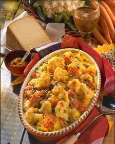 Cauliflower and Carrot Casserole Recipe DELICIOUS - Our popular recipe for cauliflower and carrot casserole and over other free recipes LECKER. How To Cook Cauliflower, Cauliflower Recipes, Carrot Casserole, Casserole Recipes, Cauliflower Casserole, Easy Soup Recipes, Healthy Recipes, Free Recipes, Delicious Recipes