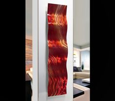 Harvest Moods Wave - Modern Abstract Painting Metal Wall Art Sculpture by Jon Allen: Contemporary Metal Art Sculptures by Jon Allen