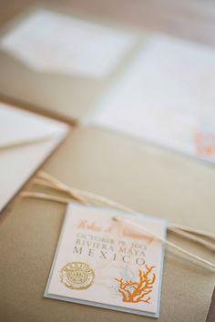 Gold Pocket Destination Wedding Invitation - CALL TFC TRAVEL TO BOOK YOUR DESTINATION WEDDING. 210-349-8301 or EMAIL: info@tfctravel.com