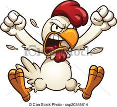 Angry chicken - Angry cartoon chicken Vector clip art.