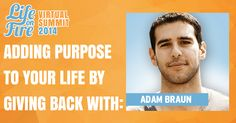 Have you heard of our Life On Fire Virtual Summit Yet? Our first interview was with the incredible Mr. Adam Braun, founder of Pencils of Promise.   Def check this one out and learn how to add purpose to your life and biz by giving back while getting an MTV Cribs style tour of the PoP offices!