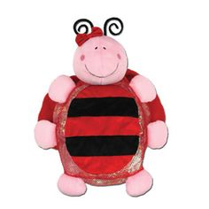 "Stephen Joseph Silly Sac Ladybug — 18""— A combination of mesh and plush make these silly little critter backpacks irresistible! Terrific for the beach or stuffed with PJ's for for a sleepover. Fill them with coordinating items for an extra special gift and personalize them with a monogram!"