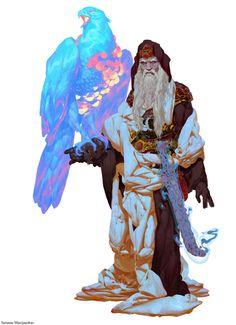 Men in fantasy art — ravenkult: Eagle Hunter Warlock by Sarunas. Male Character, Fantasy Character Design, Character Design Inspiration, Character Concept, Concept Art, Fantasy Male, Art And Illustration, Fantasy Kunst, Creature Design