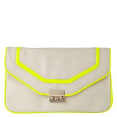 OGINSKI - handbags's clutches for sale at ALDO Shoes. Love the neutral and the neon together!