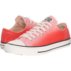 Converse Chuck Taylor All Star Sunset Ox (Daybreak Pink/Brake... ($48) ❤ liked on Polyvore featuring shoes, sneakers, converse, orange, converse trainers, orange sneakers, pink trainers, star sneakers and metallic sneakers
