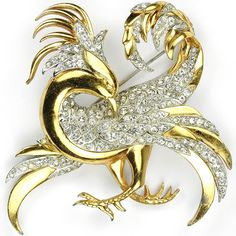 MB Boucher Gold and Pave Phoenix Pin