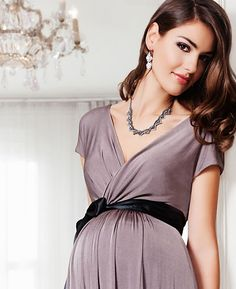 Alessandra Maternity Gown Long (Mink) - Umstandshochzeitskleider, Abendgarderobe und Partykleidung by Tiffany Rose. DE
