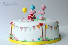 Peppa Pig Cake.. this would be perfect for Heartly's 1st birthday cake :)