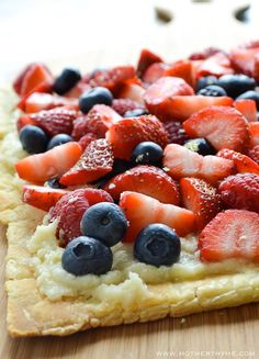 Mixed Berry & Mascapone Puff Pastry Flatbread from Mother Thyme