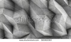 Polygonal concrete wall as wallpaper or background. 3D rendering