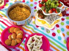 I prepared and organized the food ( sandwich m fruits )and traditional food like (Balalet) .
