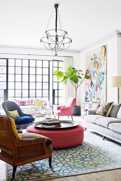 Inside a Beautifully Colorful West Village Townhouse via @mydomaine