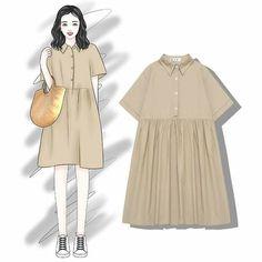 Fashion 2018, Trendy Fashion, Vintage Fashion, Womens Fashion, Korean Girl Fashion, Young Fashion, Stylish Outfits, Fashion Outfits, Dress Sketches