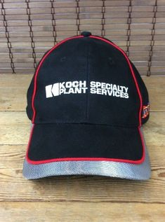 0b766086 Koch Specialty Plant Services Black/Red Cap with Metal Mesh on Rim #CAP  Metal