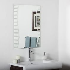 Gallery For Photographers Ava Modern Bathroom Wall Mirror W x H in