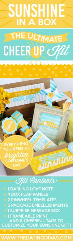 Cheer Up Kit care package - perfect gift idea for those days when the winter weather makes everyone feel gloomy.