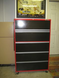 Lateral file cabinet revamp? - The Garage Journal Board - looks great repurposed as tool storage in the garage.  Craftsman styled!