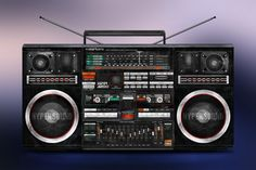 Personal Project: Illustration of CLAIRTONE 7985 Boombox Ghetto Blaster J1 SUPER JUMBO | thislooksgreat