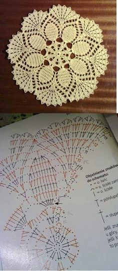 Crochet everything. Filet Crochet, Crochet Diy, Crochet Diagram, Crochet Round, Crochet Chart, Thread Crochet, Crochet Stitches, Crochet Circles, Crochet Doily Patterns