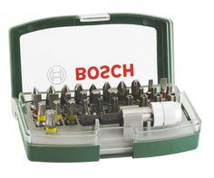 Bosch Boîtier d'embouts de vissage courts avec code couleur 31 pièces et 1 porte-embout 2607017063: Amazon.fr: Bricolage